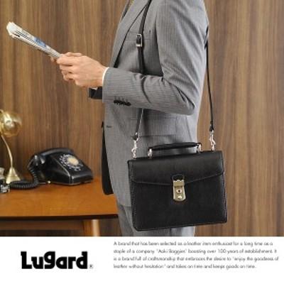 青木鞄 Lugard ミニ ブリーフケース メンズ 本革 鍵付き BALBOS  小さい ビジネスバッグ A5 革 日本製 小型