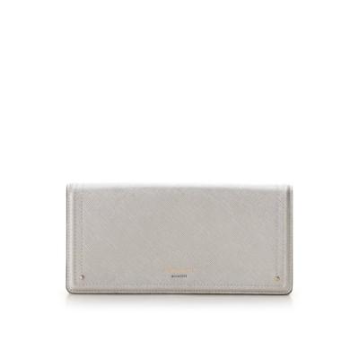【アンドシュエット】 新型シンプルかぶせ長財布 レディース シルバー FREE & chouette