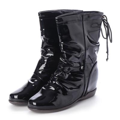 カリシモアルテ Carissimo alte カリシモアルテ ファッションレインシューズ (ブラックエナメル)