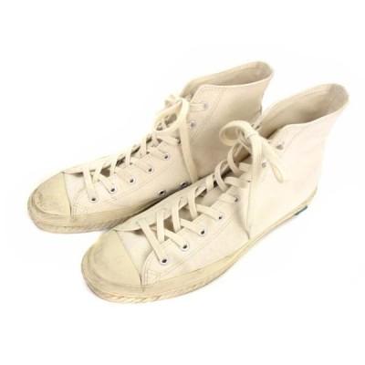 【中古】ムーンスター MoonStar シューズライクポタリー SHOES LIKE POTTERY スニーカー シューズ 靴 ハイカット キャンバス 白 27cm メンズ 【ベクトル 古着】