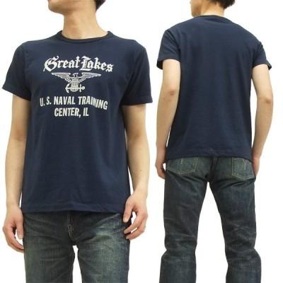 バズリクソンズ 半袖Tシャツ GREAT LAKES NAVAL TRAINING CENTER 東洋エンタープライズ BR76948 紺 新品