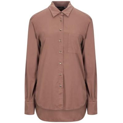 メイソンズ MASON'S シャツ ブラウン 40 テンセル 98% / ポリウレタン® 2% シャツ