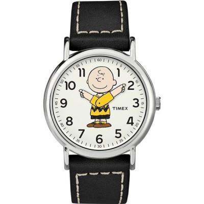 タイメックス スヌーピー ピーナッツ チャーリーブラウン 腕時計 TIMEX x Peanuts 38mm レザー 革 ベルト ブラック WATCH アナログ時計 コラボ 取り寄せ