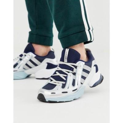 アディダス adidas Originals メンズ スニーカー シューズ・靴 EQT gazelle trainers in navy and white ネイビー/ホワイト
