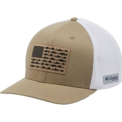 コロンビア メンズ 帽子 アクセサリー Columbia Men's PFG Mesh Ball Cap Tusk/White/FishFlag
