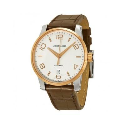 Montblanc/モンブラン メンズ 腕時計 Montblanc Timewalker 自動巻き シルバー Dial ブラウン 革 メンズ Watch 110330