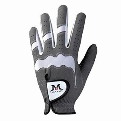 MAZEL (マゼル) ゴルフグローブ メンズ 左手着用(右利き用) 21~28cm (グレー, S(21-22cm))