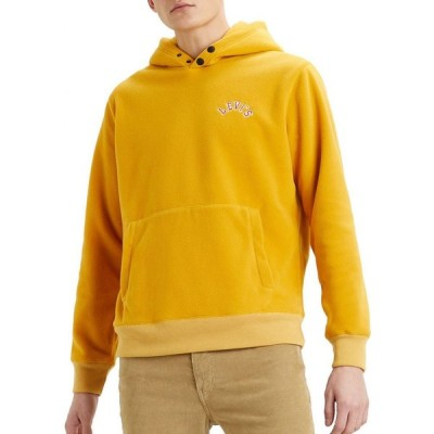 リーバイス LEVI'S メンズ フリース トップス Levi's Premium Polar Fleece Hoodie Golden Yellow