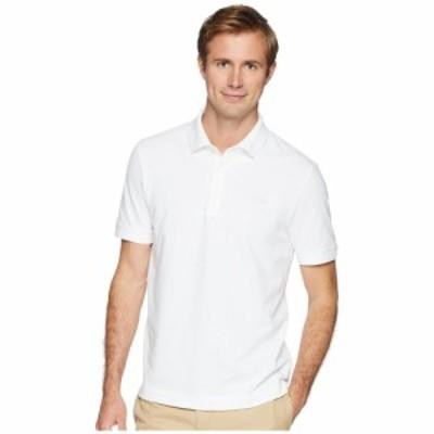ラコステ Lacoste メンズ ポロシャツ トップス Short Sleeve Solid Stretch Pique Regular White