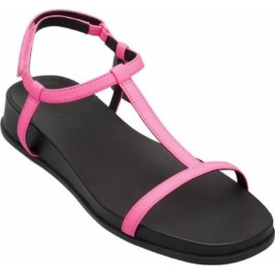 カンペール レディース サンダル シューズ Women's Camper Atonika T Strap Sandal Bright Pink Calfskin