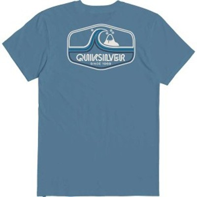 クイックシルバー メンズ シャツ トップス Quiksilver Men's Highway Vagabond T-Shirt Blue Heaven