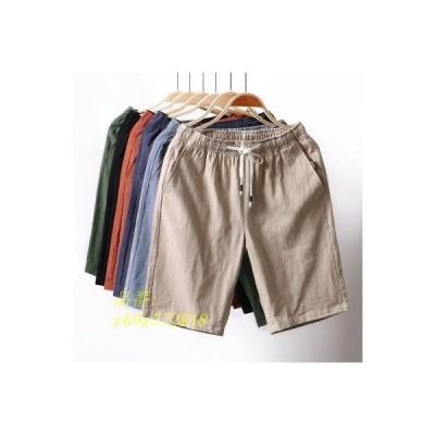 ハーフパンツ メンズ ショートパンツ 五分丈 ウエストゴム 短パン ボトムス リラックス 膝上 カジュアル 半ズボン 夏 ズボン パンツ