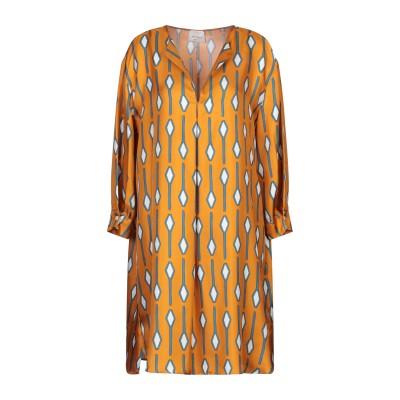 アリジ ALYSI ミニワンピース&ドレス ブラウン 44 シルク 100% ミニワンピース&ドレス