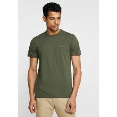 Calvin Klein メンズトップス Calvin Klein LOGO EMBROIDERY - Basic T-shirt - green g
