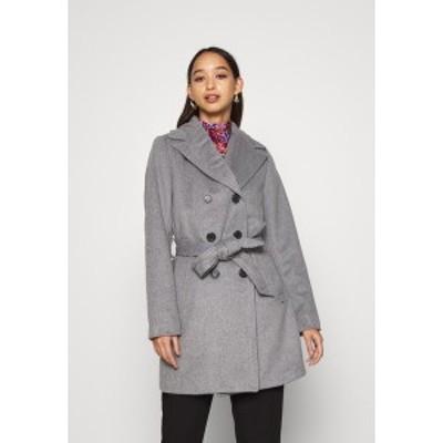 ビーヤング レディース コート アウター BYABIA COAT - Short coat - medium grey melange medium grey melange