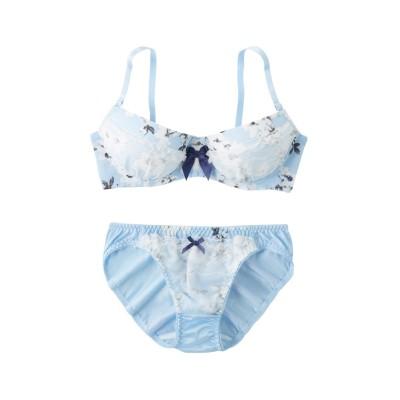 アンティークフラワーブラ・ショーツセット(D75/L) (ブラジャー&ショーツセット)Bras & Panties