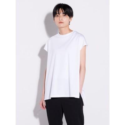 ラ エフ la f 【大人のための上質Tシャツコレクション】フレンチスリーブカットソー (ホワイト)