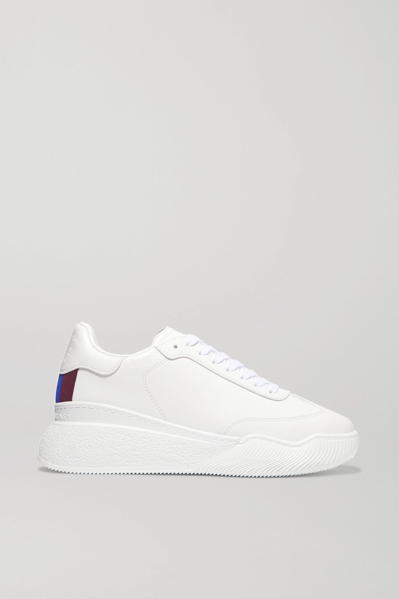 Stella McCartney - Loop Logo-embossed Vegetarian Leather Sneakers - White - IT37