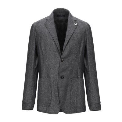 ラルディーニ LARDINI テーラードジャケット グレー M コットン 52% / シルク 48% テーラードジャケット