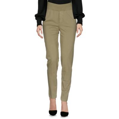 EUROPEAN CULTURE パンツ ミリタリーグリーン XS コットン 95% / ポリウレタン® 5% パンツ