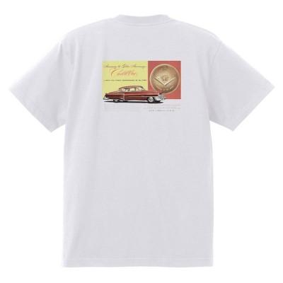 アドバタイジング キャデラック Tシャツ 白 980 黒地へ変更可 1952 オールディーズ ロック 1950's 1960's ロカビリー ローライダー