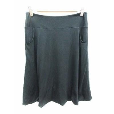 【中古】ダーマコレクション dama collection スカート フレア ひざ丈 L 黒 ブラック /YK レディース