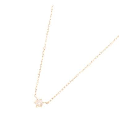 【ココシュニック/COCOSHNIK】 ダイヤモンド 6本爪 ネックレス