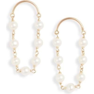ポッピーフィンチ POPPY FINCH レディース イヤリング・ピアス ジュエリー・アクセサリー 14K Gold Arch Short Pearl Earrings Yellow Gold/Pearl