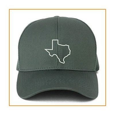 Trendy Apparel Shop XXL Texas State Outline Embroidered Structured Trucker Mesh Cap - Dark Grey【並行輸入品】