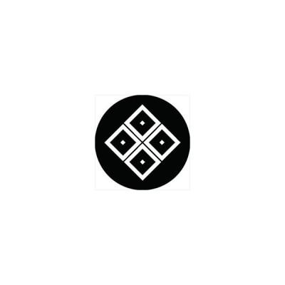 家紋シール 陰隅立て四つ目紋 直径4cm 丸型 白紋 4枚セット KS44M-0153W