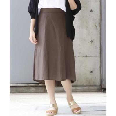スカート 40リネンミックススカート