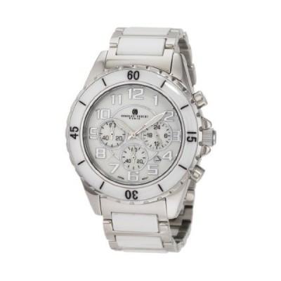 Charles-Hubert, Paris Men's 3754-W Premium Collection White Ceramic and Stainless Steel Chronograph Watch 並行輸入品