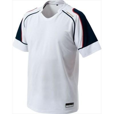 [ZETT]ゼット野球 プロステイタス ベースボールTシャツ (BOT810)(1129) ホワイト/ネイビー[取寄商品]