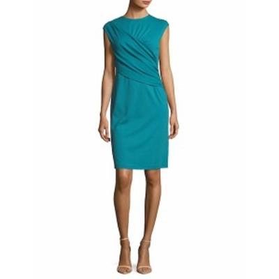 ラファイエット148ニューヨーク レディース ワンピース Ruched Wrap Front Knee-Length Dress