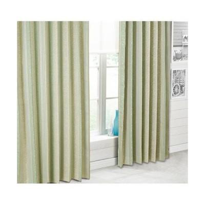 (1枚入り)裏地付き遮光2級・遮熱カーテン(カティア グリーン 100X110X1) ニトリ 『玄関先迄納品』