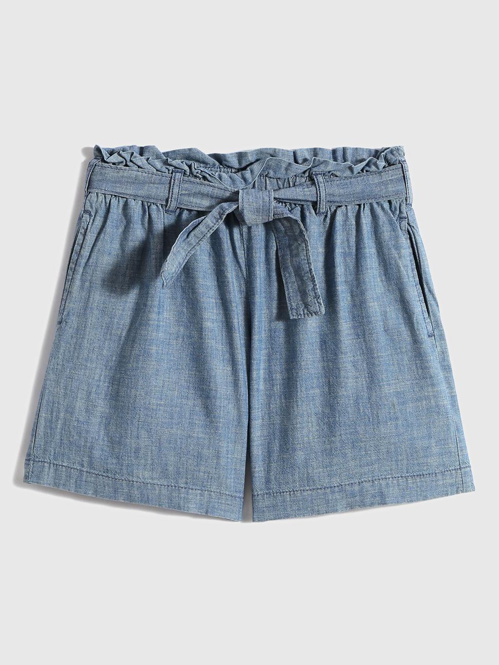 女童 甜美棉質繫帶短褲