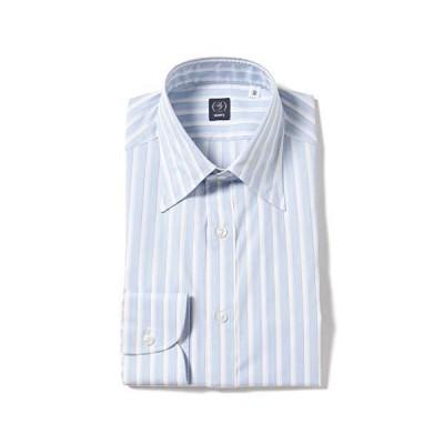 (ビームスエフ)BEAMS F/シャツ ストライプ レギュラーカラーシャツ メンズ SAX/0001 39