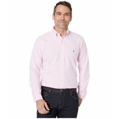 ラルフローレン シャツ トップス メンズ Classic Fit Long Sleeve Oxford Shirt Pink/White