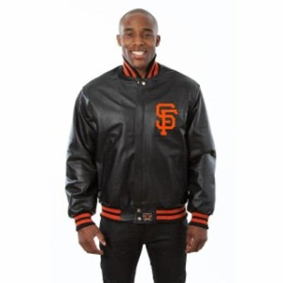 JH Design ジェイエイチ デザイン アウターウェア ジャケット/アウター JH Design San Francisco Giants Black Team Color Leather Jacke