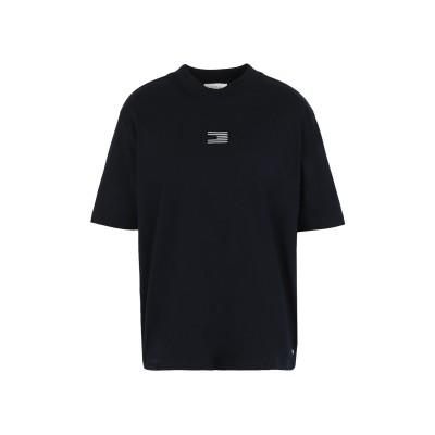 YOOX - トミーヒルフィガー TOMMY HILFIGER T シャツ ダークブルー XL オーガニックコットン 100% T シャツ