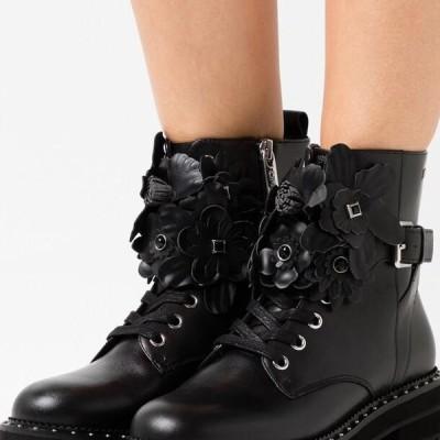 リュージョー レディース 靴 シューズ PINK - Platform ankle boots - black