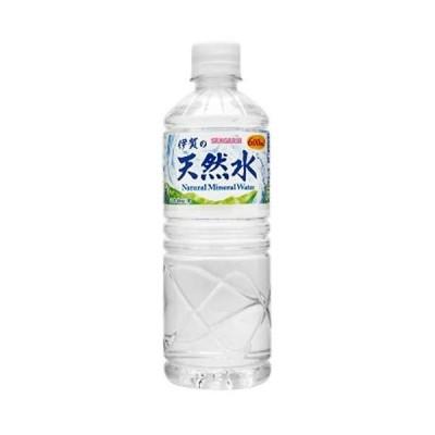 サンガリア 伊賀の天然水 PET 600ml×24本入【×2ケース:合計48本】
