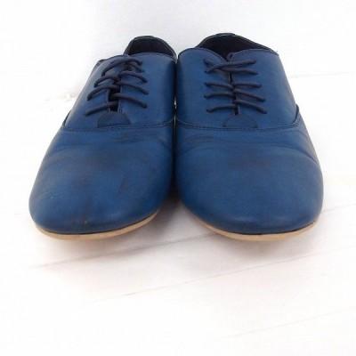 【中古】ハードカバー hardcover 靴 ローファー ドレスシューズ フラット プレーン L ネイビー 紺 /FT16 メンズ 【ベクトル 古着】
