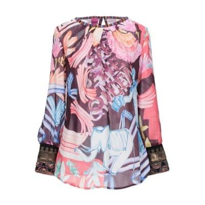 SAVE THE QUEEN ブラウス ファッション  レディースファッション  トップス  シャツ、ブラウス  長袖 ボルドー