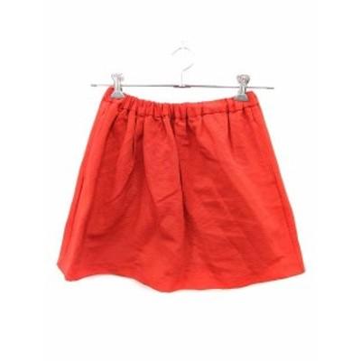 【中古】ジュエルチェンジズ Jewel Changes アローズ スカート フレア ミニ オレンジ /ST レディース