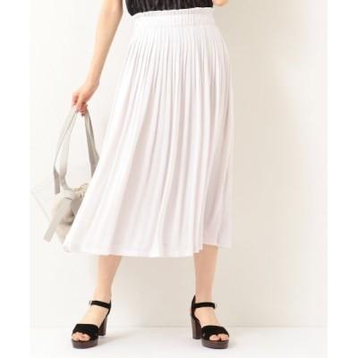 L size ONWARD(大きいサイズ)/エルサイズオンワード 【洗える】マットサテン プリーツスカート ライトグレー系 6