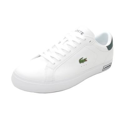 スニーカー ラコステ LACOSTE パワーコート ホワイト/ダークグリーン SM00600-1R5 メンズ シューズ 靴 20Q3