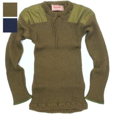 KEMPTON(ケンプトン)Woolly Pully WWII レプリカ クルーネックセーター [OD][NAVY]