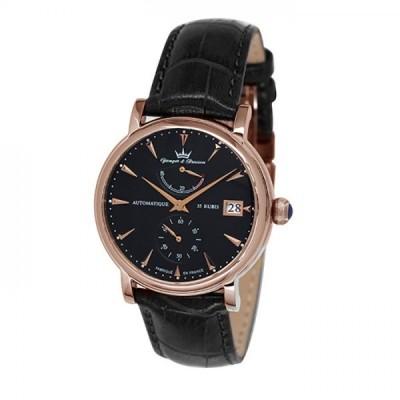 ヨンガー&ブレッソン Yonger&Bresson ベルカステル YBH8358-07 ブラック文字盤 新品 腕時計 メンズ