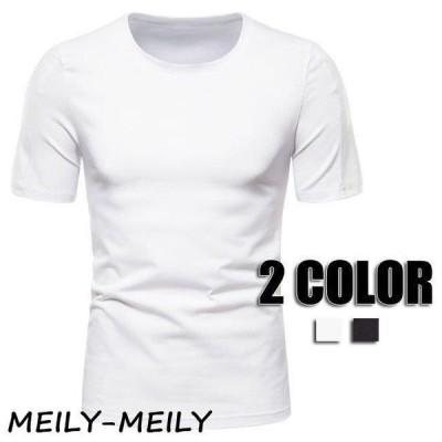 Tシャツ メンズ 半袖 カジュアルTシャツ トップス Tシャツ 夏Tシャツ 春Tシャツ メンズファッション 男性用 2色